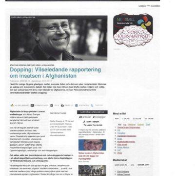 Vilseledande rapportering om insatsen i Afghanistan (Newsmill)