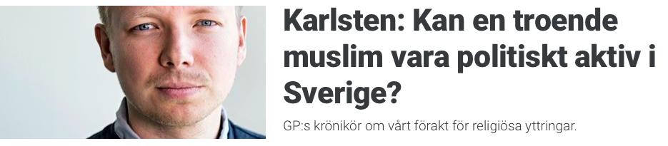 Karlsten Kan en troende muslim skärmdump