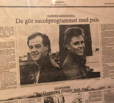 Grabbarna bakom rösterna, reportage i SvD Weekend om Storstadspuls