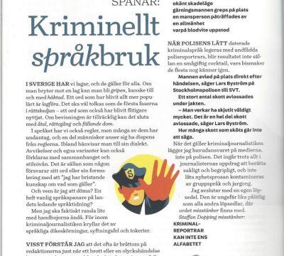 Språkspaning: KRIMINELLT SPRÅKBRUK