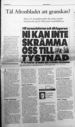 Min snubba mot Aftonbladet i Journalisten våren 1998