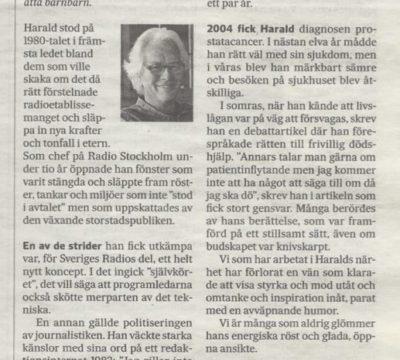 Harald Norbelies betydelse för den svenska radion