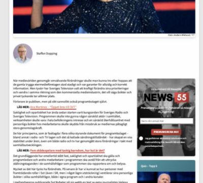 Krönika i News55 om åsiktsjournalistik