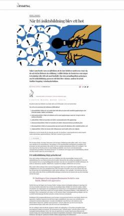 Krönika: När fri åsiktsbildning blev ett hot